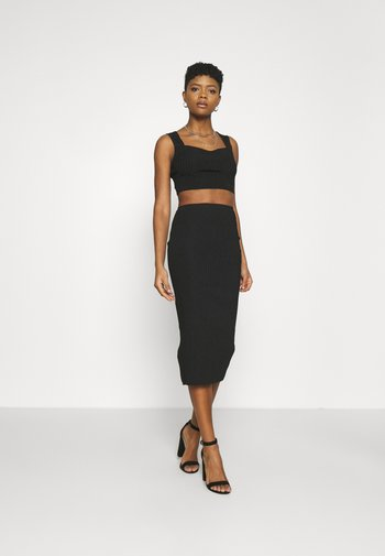 SWEETHEART SET - Pencil skirt - black