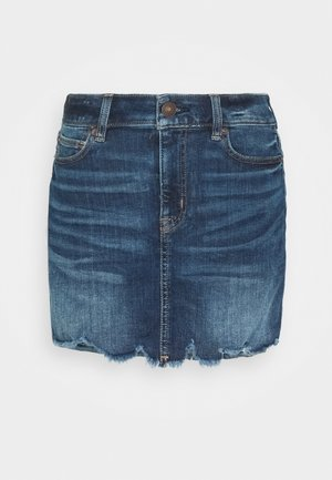 HIGH RISE MINI SKIRT - Denim skirt - dark ink