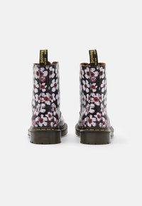 Dr. Martens - 1460 PASCAL - Lace-up ankle boots - black/red pansy fayre vintage smooth - 3