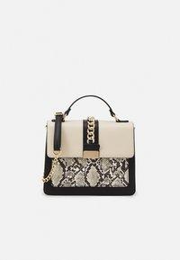 Handbag - taupe/black