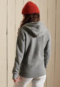Superdry - VINTAGE LOGO EMBROIDERED  - Zip-up sweatshirt - rich charcoal marl - 1
