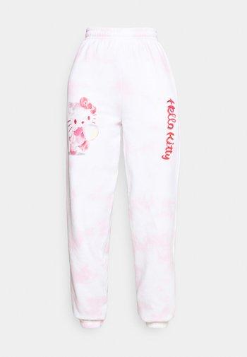 HELLO BUBBLE TIE DYE - Tracksuit bottoms - pink