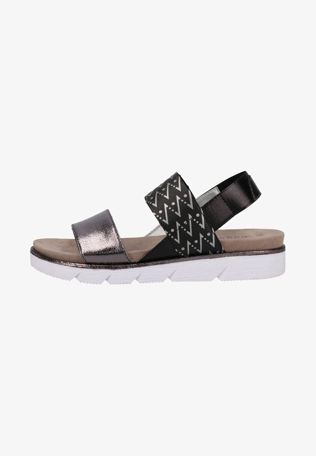Sandalias - dark grey/metallics