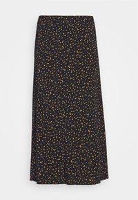 mine to five TOM TAILOR - SKIRT PRINTED MIDI - A-line skirt - navy/orange - 0