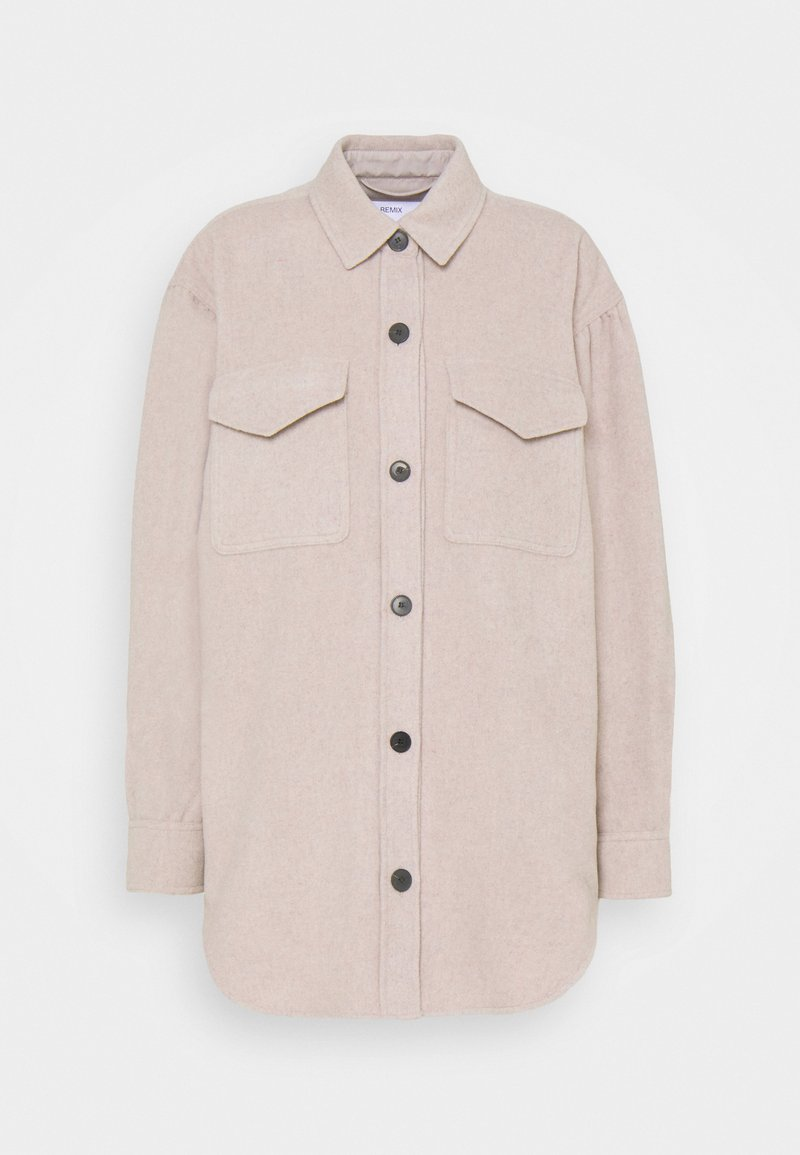 DESIGNERS REMIX - CARPI SHIRT JACKET - Classic coat - beige