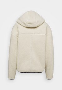 Tommy Jeans - SHERPA ZIP THRU HOODIE - Fleece jacket - ecru - 1