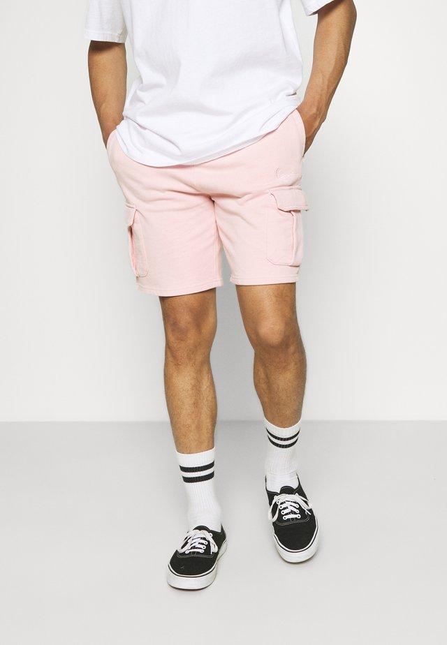 SMALL SIGNATURE WASHED  - Shorts - rose