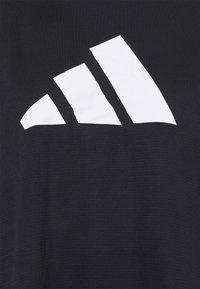 adidas Performance - LOGO TEE - Print T-shirt - black/white - 2