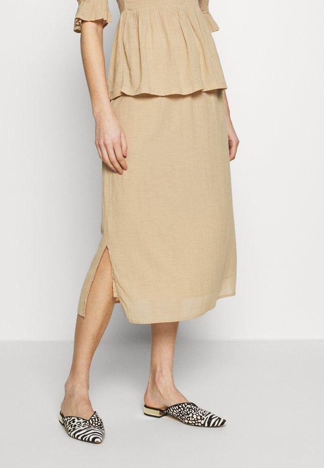 EVORINA - Áčková sukně - sand