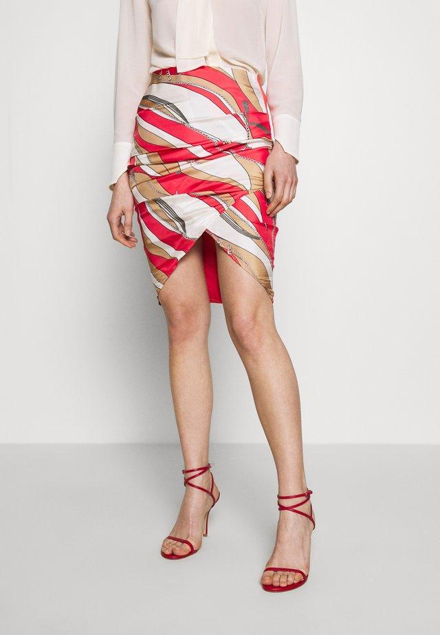 Pencil skirt - pempelmo/cammello