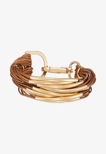 ELLA - Armbånd - gold-coloured/brown