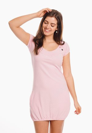 SINDY - Jersey dress - pearl pink