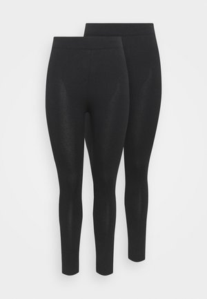 BASIC 2 PACK - Legging - black