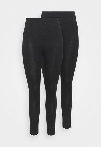 BASIC 2 PACK - Leggings - Trousers - black