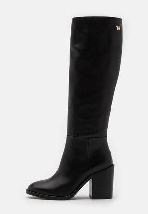 LONG BOOT - High heeled boots - black