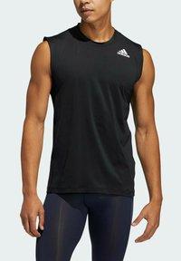 adidas Performance - TURF SL T PRIMEGREEN TECHFIT TRAINING WORKOUT SLEEVELESS T-SHIRT - Sports shirt - black - 2