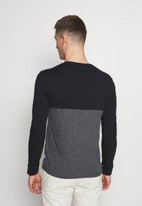 Pier One - Top sdlouhým rukávem - black/mottled dark grey - 2