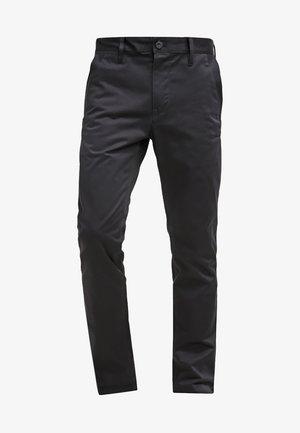 BRONSON SLIM - Chino kalhoty - black