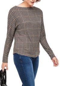 s.Oliver - Long sleeved top - grey aop checks - 4