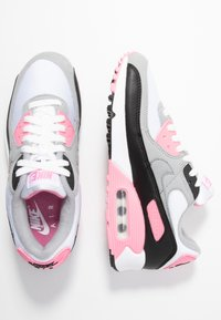 Nike Sportswear - AIR MAX 90 - Sneakers laag - white/particle grey/rose/black/light smoke grey - 5