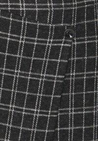 ONLY - ONLALBA SHORT SKIRT - Wrap skirt - dark grey melange/white - 2
