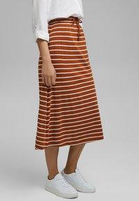 Esprit - A-line skirt - caramel - 3
