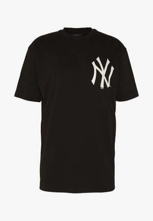 MLB BIG LOGO OVERSIZED TEE NEW YORK YANKEES - Squadra - black