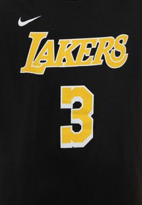 Nike Performance - NBA ANTONY DAVIS LA LAKERS NAME AND NUMBER TEE - T-shirt con stampa - black - 2