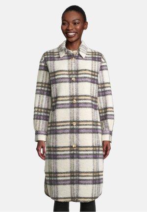 Classic coat - weiß/violett