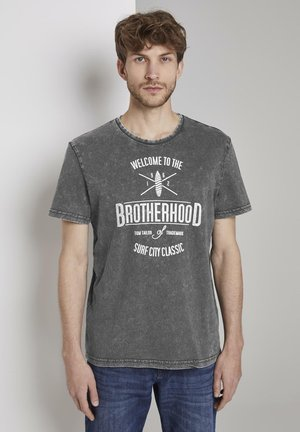 T-shirt z nadrukiem - phanton dark grey