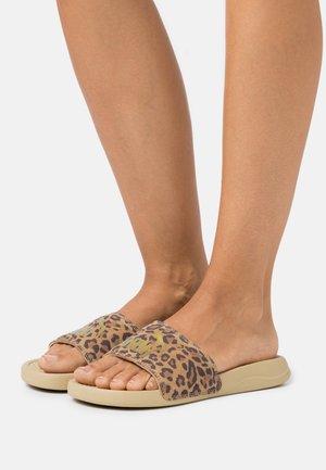 POPCAT LEO - Pantofle - pale khaki/gold