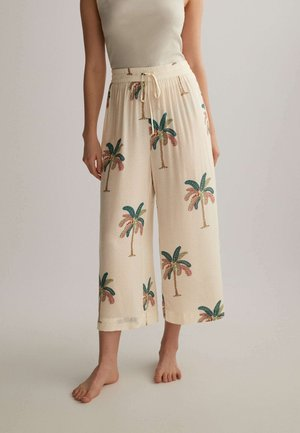 PALM TREE CULOTTES  - Pyjama bottoms - beige
