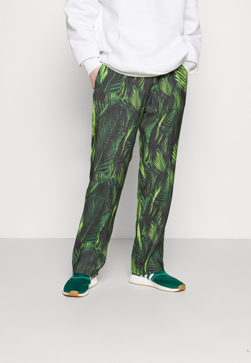 9N1M SENSE - SPECIAL PIECES PANTS UNISEX - Trousers - black/green