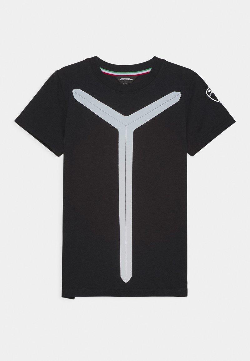Automobili Lamborghini Kidswear - REFLECTIVE - Triko spotiskem - black pegaso