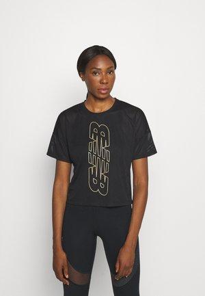 ACHIEVER KEYHOLE BACK GRAPHIC TEE - T-shirt print - black