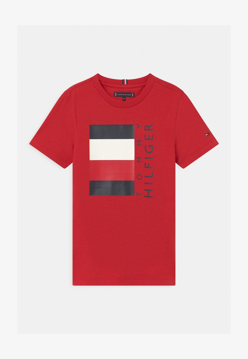 Tommy Hilfiger - GLOBAL STRIPE  - Print T-shirt - red