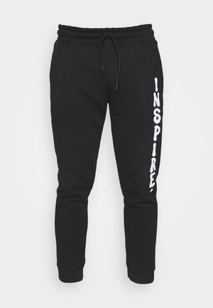 PHOTO INSPIRE PRINT - Tracksuit bottoms - black