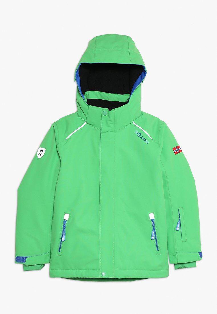 TrollKids - KIDS HOLMENKOLLEN SNOW JACKET PRO - Snowboard jacket - bright green