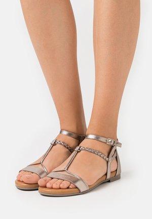 Sandals - champagne metallic