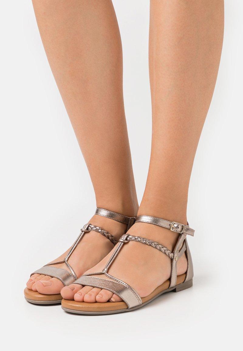 Tamaris - Sandals - champagne metallic