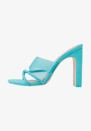 HOANA - Heeled mules - bright blue