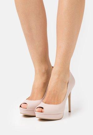 ERIKA PLATFORM - Peeptoe heels - soft pink