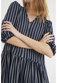 InWear - VIKSA LONG DRESS - Day dress - marine blue stripe - 2