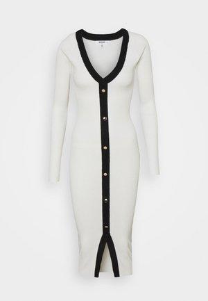 BUTTON THROUGH CARDI DRESS - Stickad klänning - white