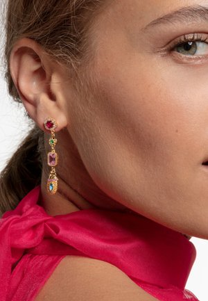 VERGOLDUNG - Earrings - orange/blue