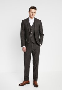Shelby & Sons - PERRY WAISTCOAT - Chaleco - dark brown - 1