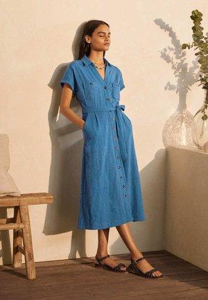 Shirt dress - azurblau