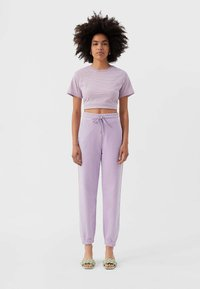 Stradivarius - Tracksuit bottoms - purple - 1