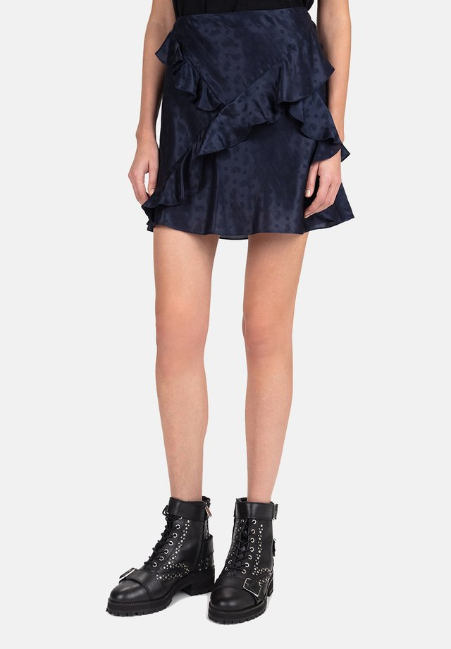 JUPE - A-line skirt - blue