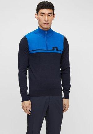 THEO ZIPPED - Stickad tröja - egyptian blue